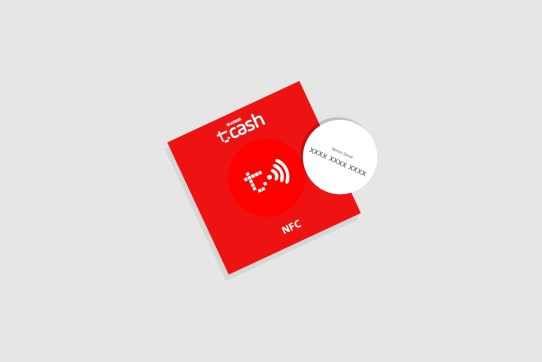 tcash sticker as companion to tcash app to increase people acceptance to payment services of tcash