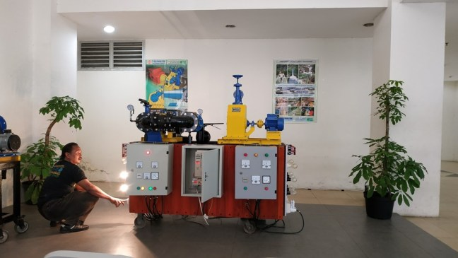 demo of microhydro power plant