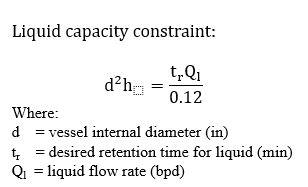 Liquid capacity constraint