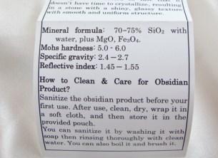 Obsidian Shakti Wand
