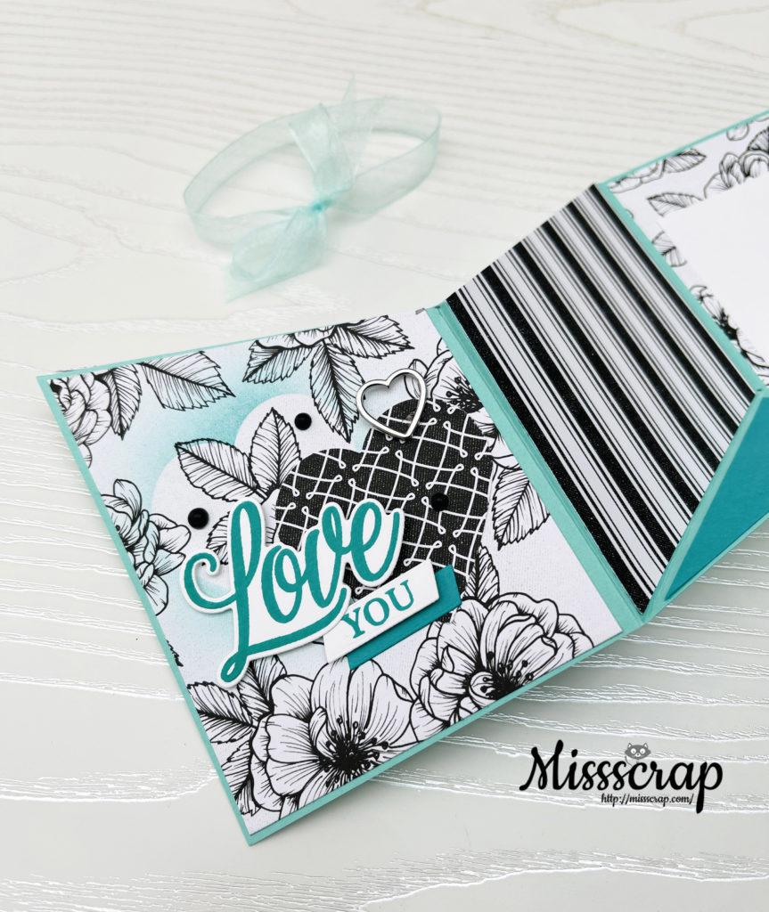 Fun fold love card
