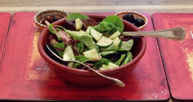 A simple side salad is a perfect accompaniment