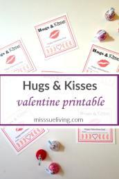 """""""Hugs & Kisses"""" Valentine Printables"""