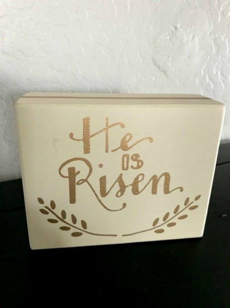 """He is Risen"" Easter sign"