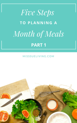 Plan A Month of Meals Part 1