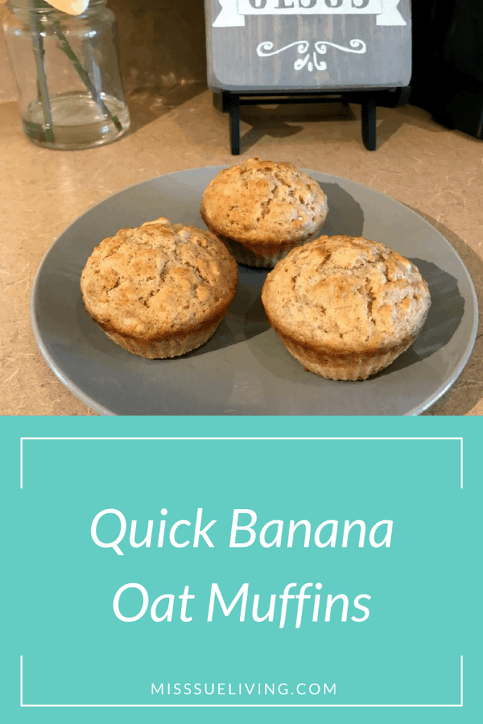 Quick Banana Oat Muffins-great for breakfast on the go!