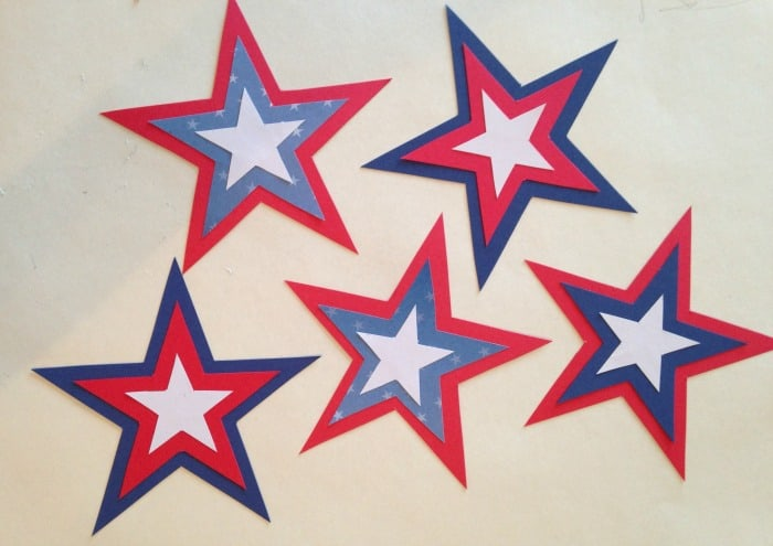 DIY Patriotic Star Wand assembly