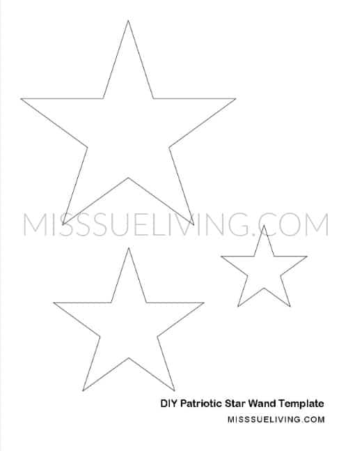 DIY Patriotic Star Wand Template Overlay