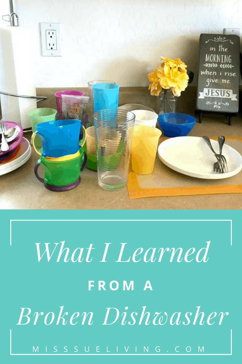 What I learned from a broken dishwasher. How a broken dishwasher brought relationship and equipped myself and kids with new skills.