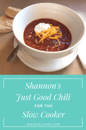 Shannon's Just Good Chili for the Slow Cooker
