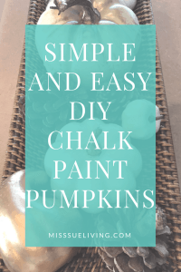 Simple and Easy Ways to Add Fall to Your Home, fall home decor, pumpkin decor, easy home decor, DIY chalk paint pumpkin, fall art print