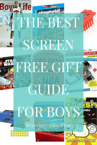 The Best Screen Free Gift Guide for Boys, boys gift guide, boys gift ideas, boys gifts, holiday gift guide, boys christmas gifts, #boysgiftguide
