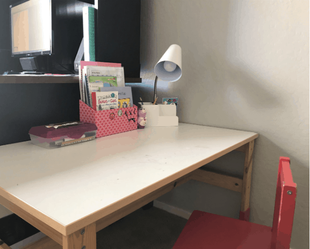Simple Back To School Organized Desk For Kids