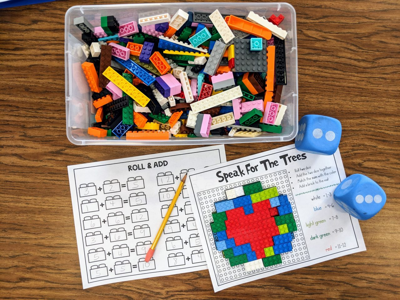 Building With Math Building Brick Activities