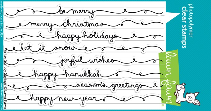NEW Winter Scripty Sayings for Lawn Fawn + WIN THEM! {CLOSED}