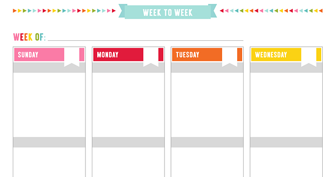 FREE UNPLAN Weekly 2PG Boxed Planner Page Printables