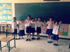 Teaching kids the Rainbow song