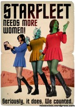 Starfleet needs more women! Seriously, it does. We counted.