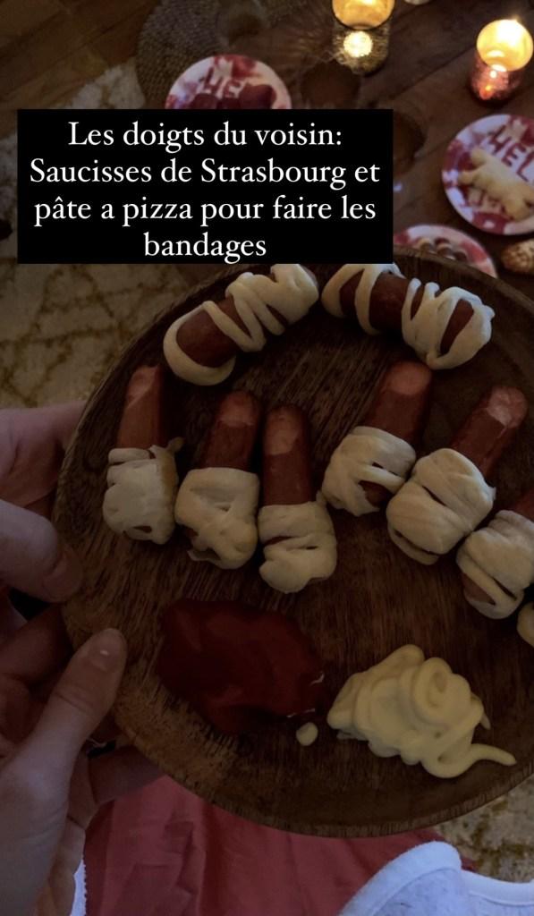 Il s'agit de doigts comestibles aux saucisses de Strasbourg pour Halloween.