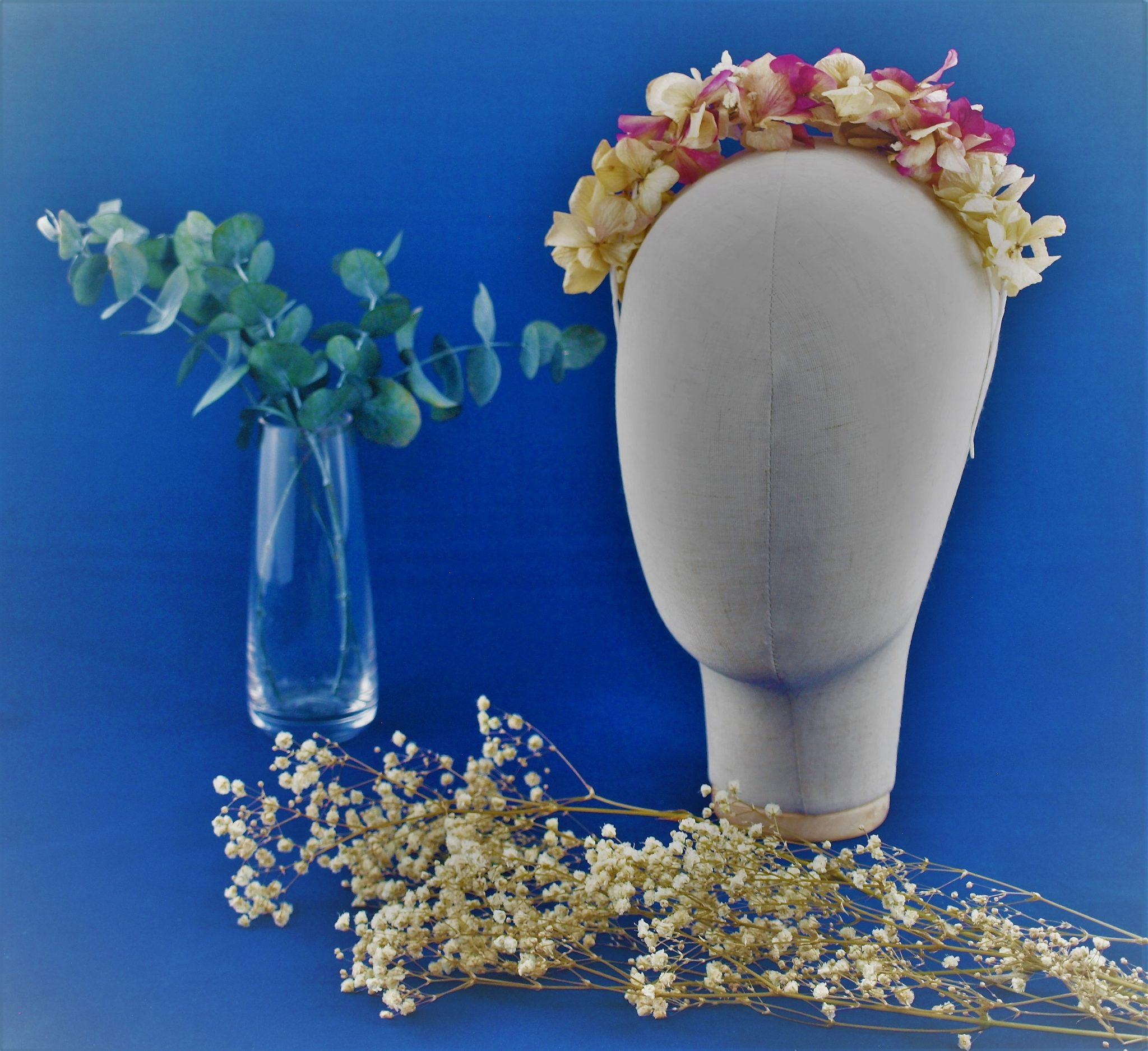 Diadema de flores preservadas Buganvilla