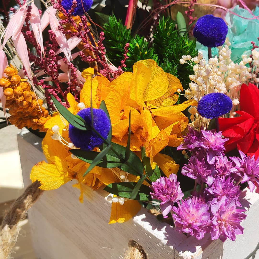 centro flor preservada