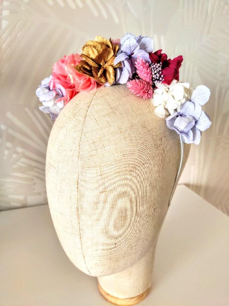 flor preservada diadema
