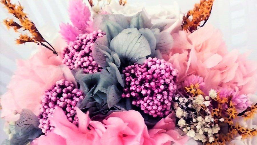 detalle ramo juno de flores preservadas