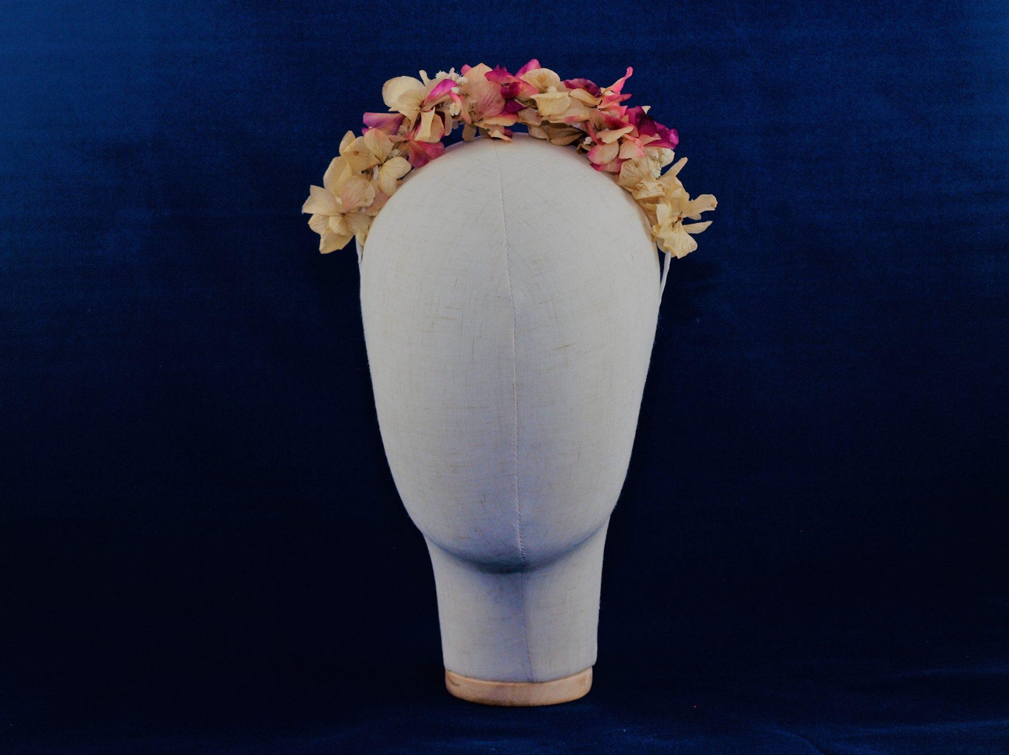 Diadema de flores preservadas Buganvilla 2