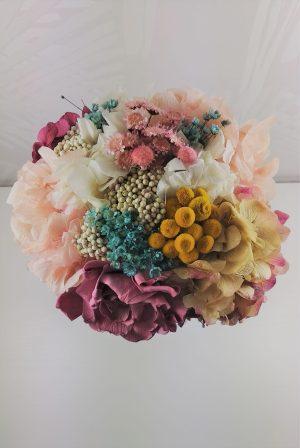Ramo de novia de flores preservadas Coco Pink 3