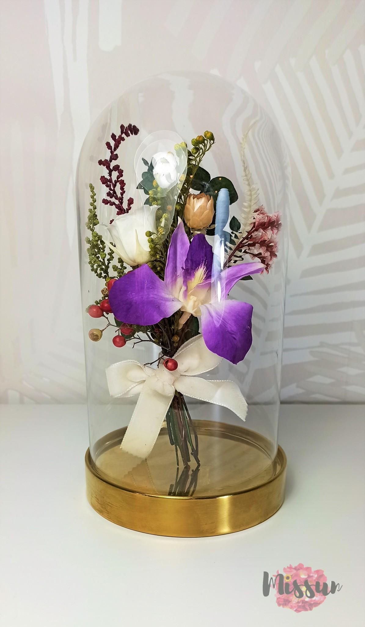 minicúpula flor preservada