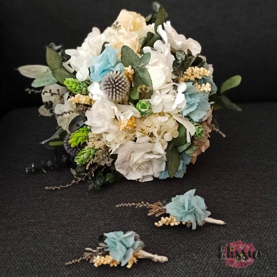 Ramo novia con flor preservada Sevilla
