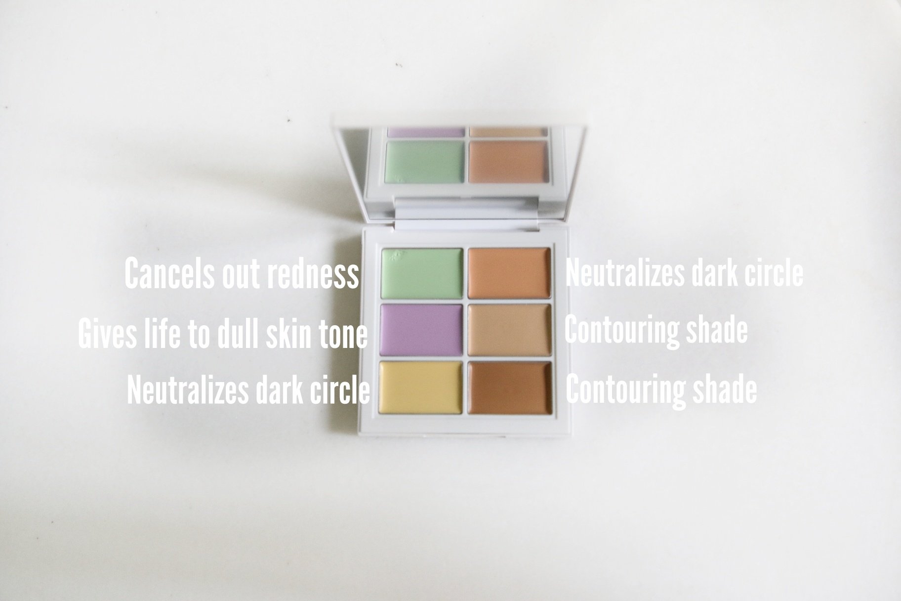 Color Correcting Palette Which Contains All The Shades Needed To