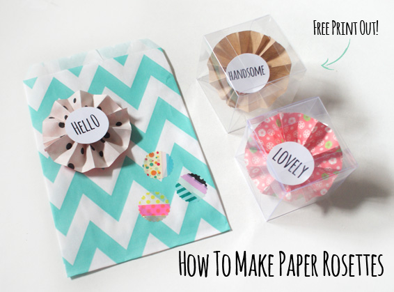 DIY How To Make Paper Rosettes Free Print Out Miss V
