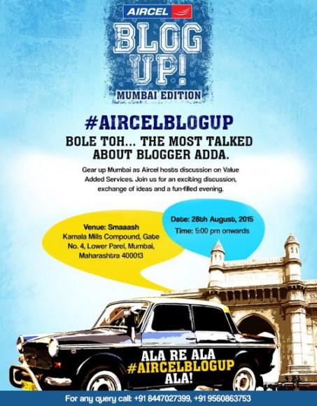 Aircel #BlogUp Meet- VAS Services galore.