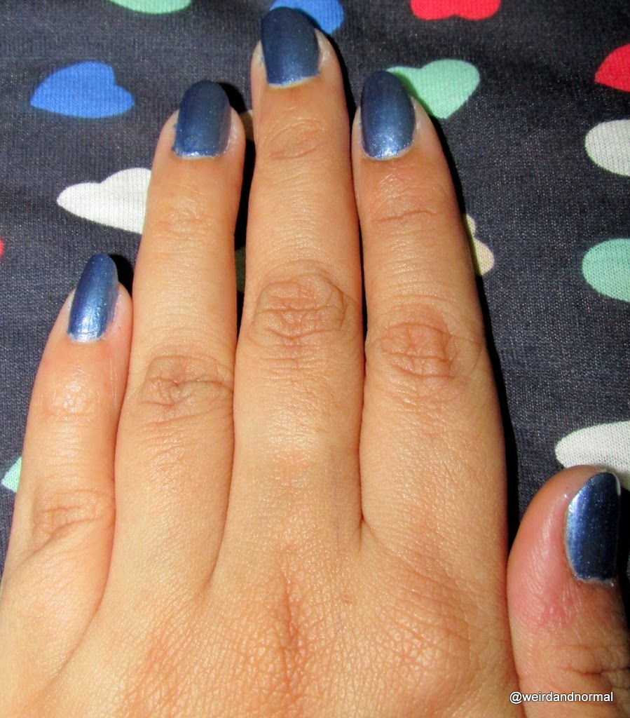Oriflame Very Me Metallic Nail Polish - Blue Passion Review - Miss ...