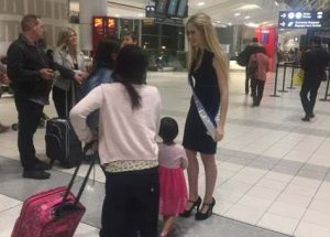 Cynthia Menard departs to Miss World pageant