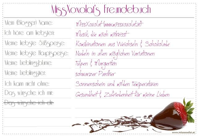 MissXoxolat Freundebuch