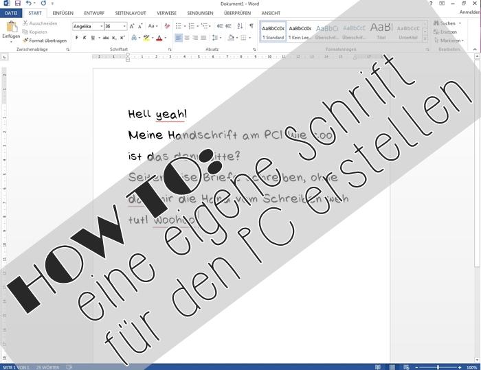 {DIY} eigene Handschrift als Font 01