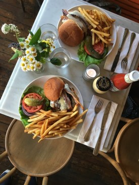 Five Leaves burger in Williamsburg, Brooklyn