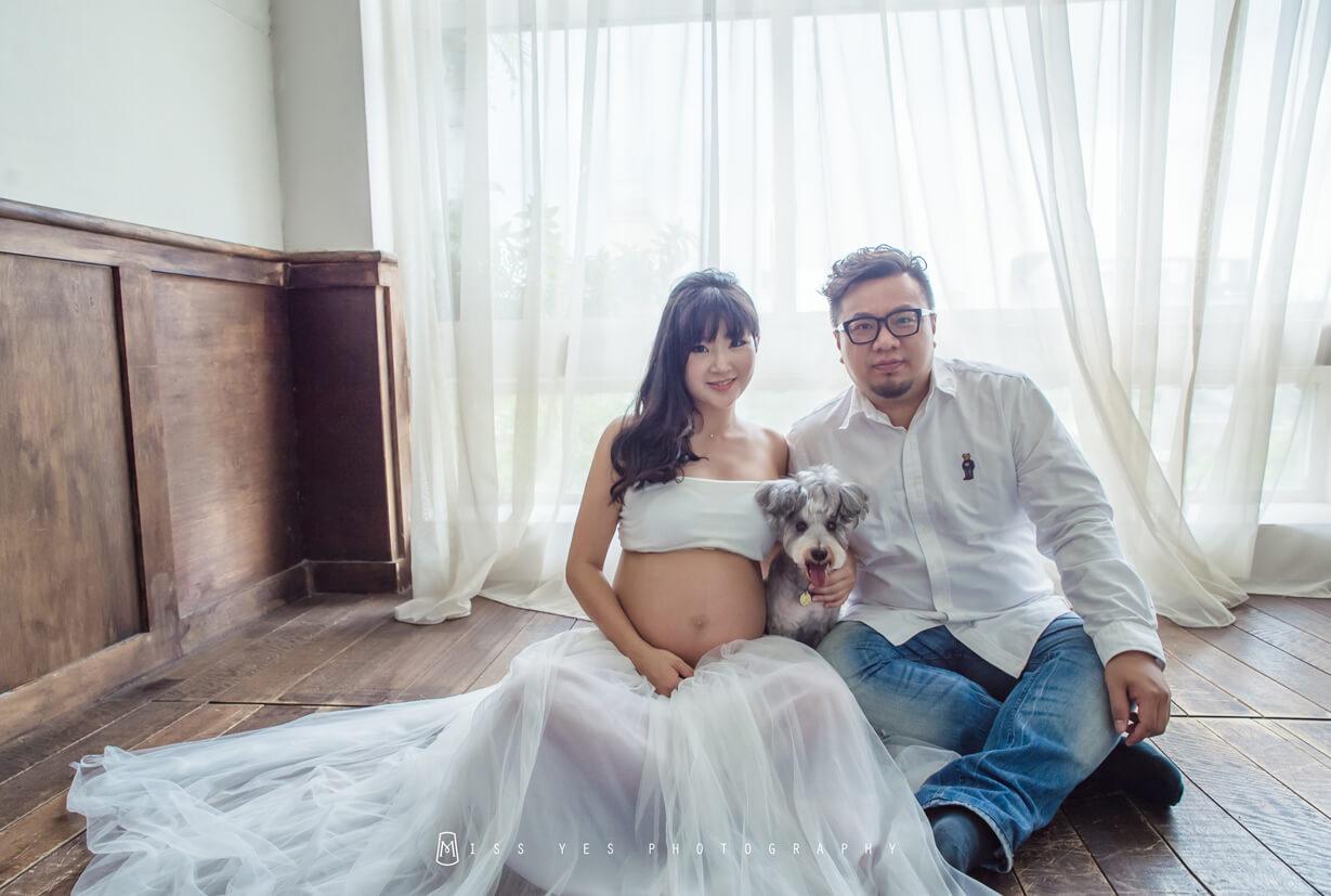 孕婦寫真,女攝影師,孕媽咪,寵物,雪納瑞