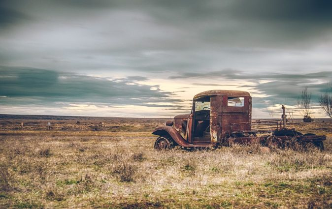 Old truck in Shaniko, OR by vancouver wa wedding photographer missy fant