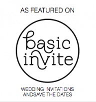 Wedding featured on Basic Invite