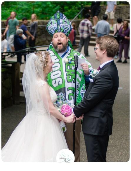 Multnomah Falls Wedding
