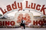 Heather and John in the Neon Sign Museum - Las Vegas, Nevada