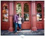 Sear and Isaiah's Engagement Session in Downtown Portland