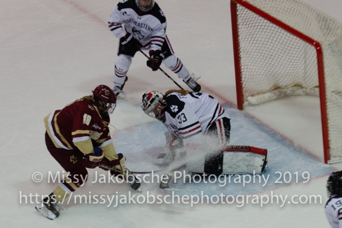 NU vs BC women's Hockey