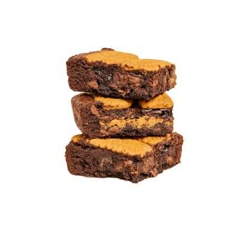 biscoff brownie stack