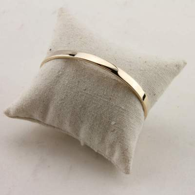 Bracelet Rigide Jade en Plaqué Or