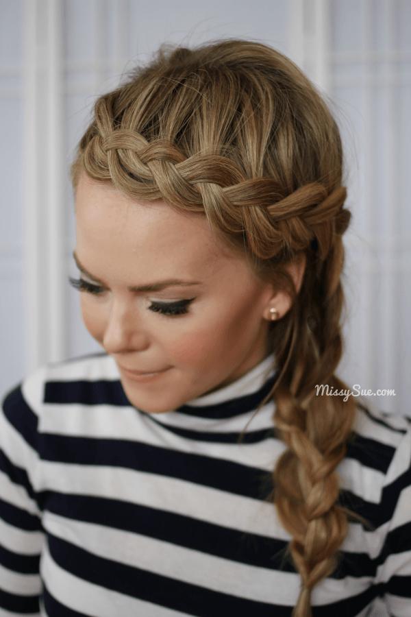 Dutch Braided Headband + Side Braid