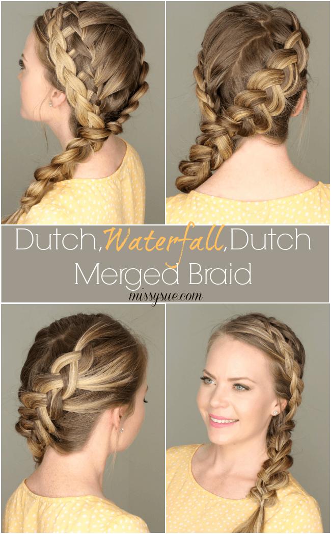 Dutch Waterfall Dutch Merged Braid